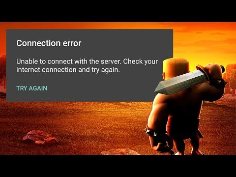 Clash Of Clans - Unable To Connect With Server Error FIX