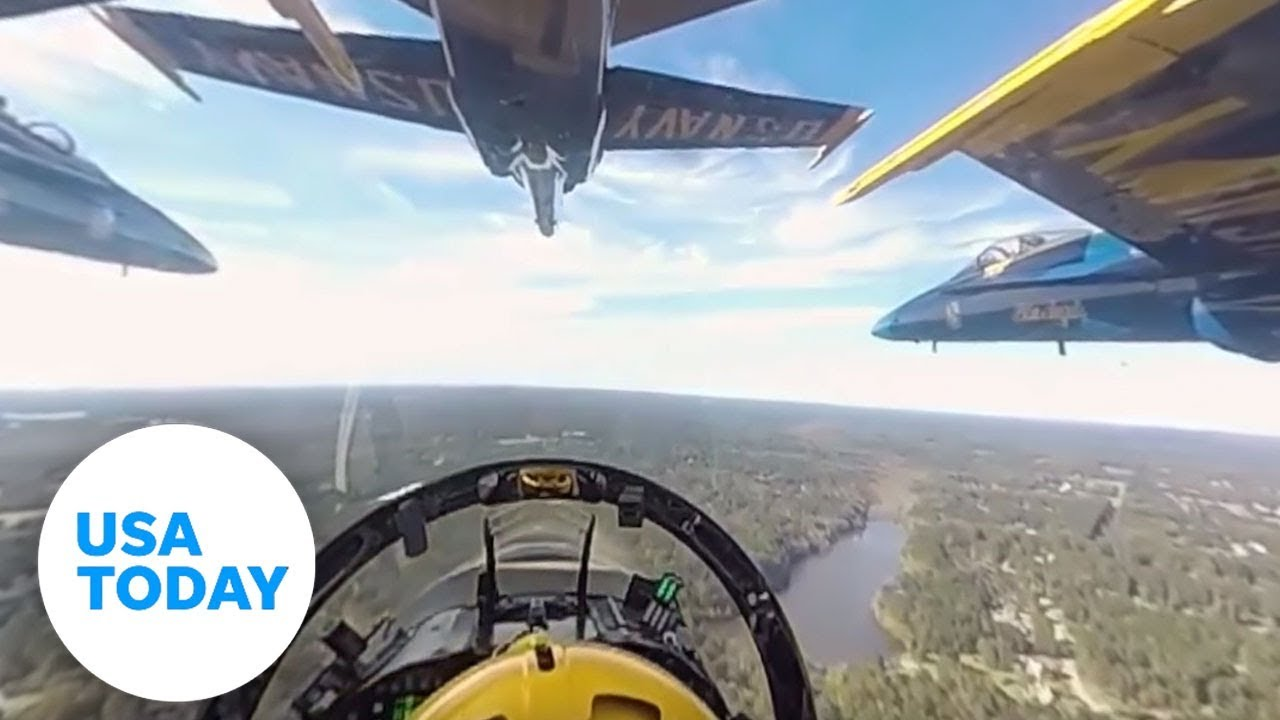 Experience The Blue Angels In 360 Degree Video Youtube