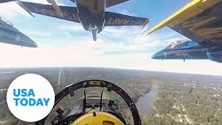 Experience the Blue Angels in 360-degree video(Climb aboard Blue Angel 4 in the
