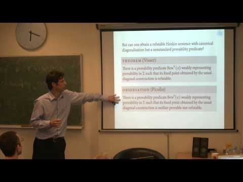 Volker Halbach :  Representing self reference in arithmetic