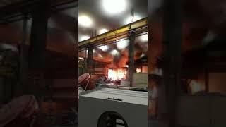 Incêndio atinge empresa em Jaraguá do Sul na noite desta quinta-feira
