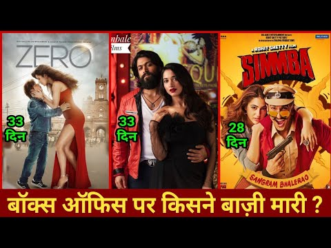 Box Office Collection Of KGF vs Zero vs Simmba | KGF Lifetime Collection Worldwide