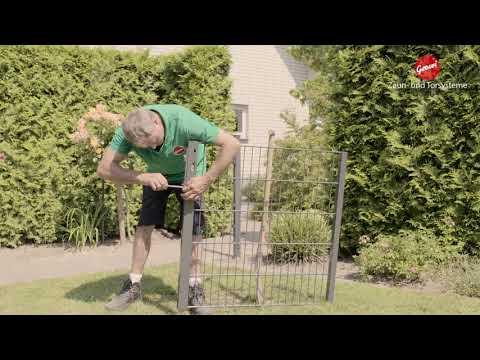 Tutorial: Wie montiert man ein Gartentor?