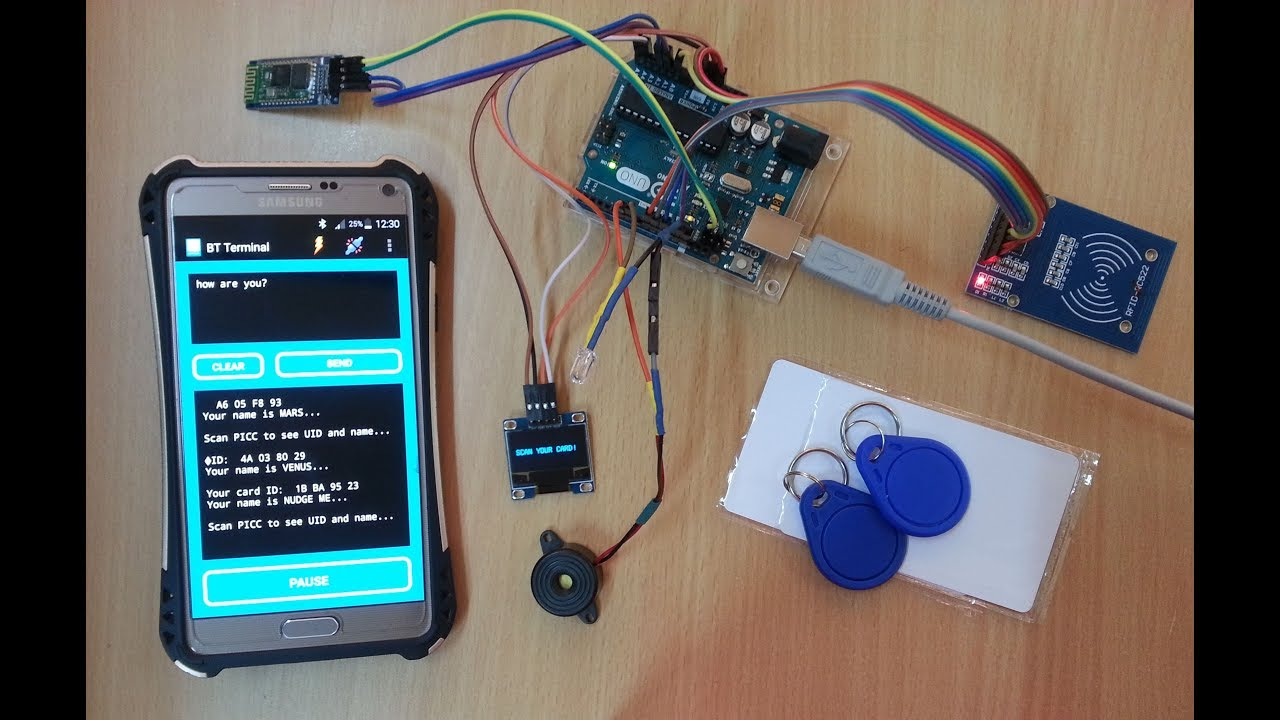 Arduino RFID Card Reader with OLED Display