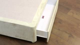 Amber Divan Bed Base   4ft Small Double Two Drawer