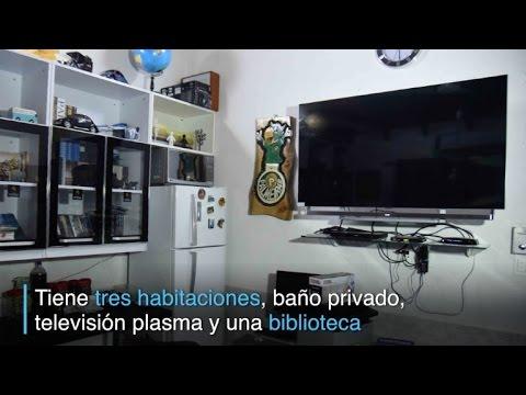 La lujosa celda de un narco brasileño en una cárcel paraguaya