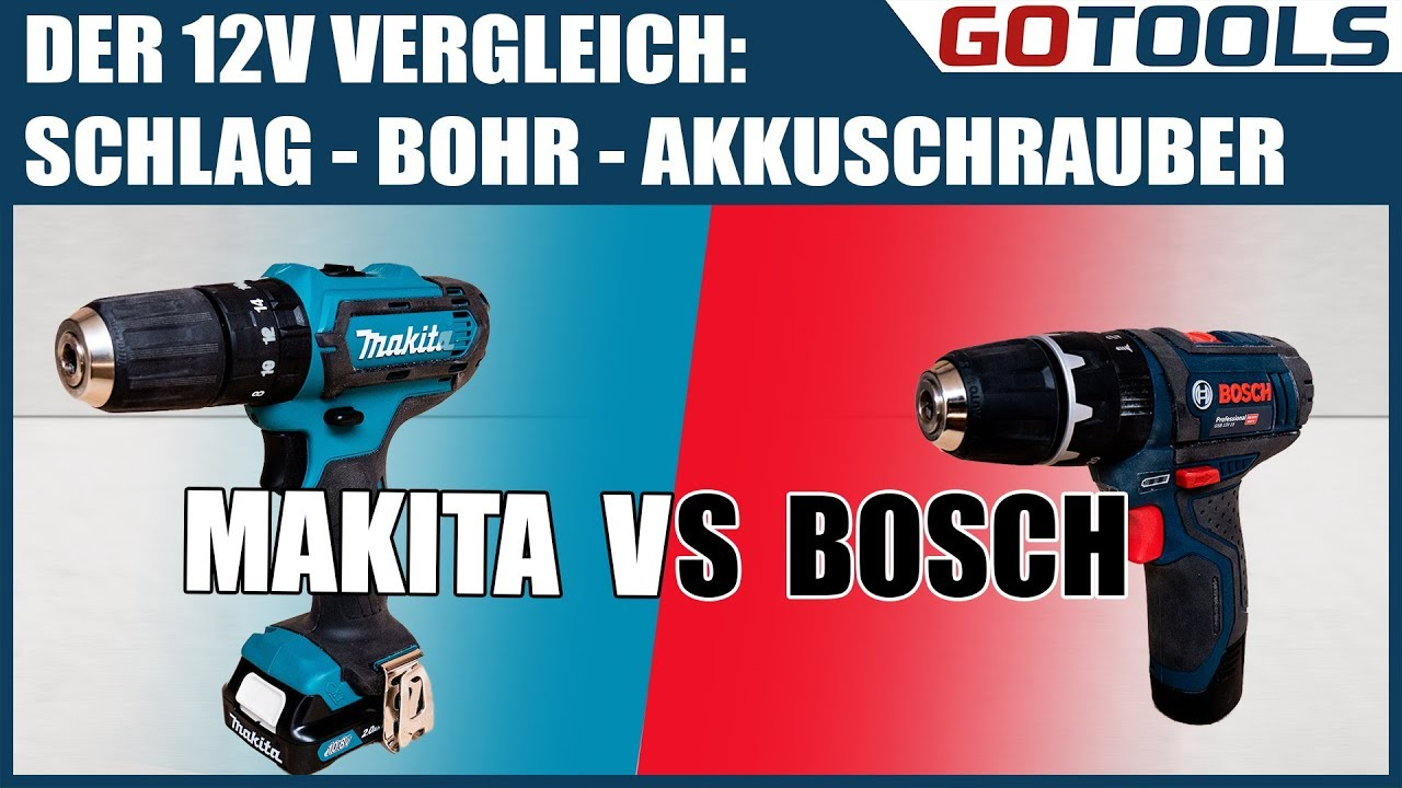 12v akkuschrauber mit schlag vergleich bosch gsb12v15 vs makita hp331d youtube. Black Bedroom Furniture Sets. Home Design Ideas