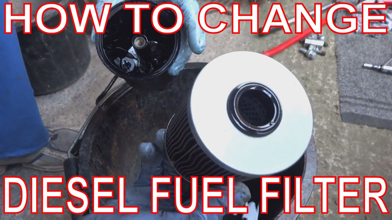 how to change a fuel filter  how to replace a diesel filter  renault scenic
