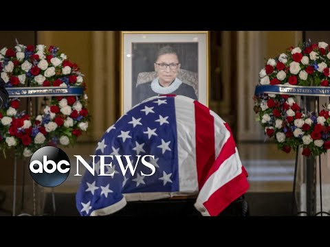 Public says final farewell to Ruth Bader Ginsburg at US Capitol