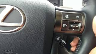 Lexus GX 460 Simple Tutorial - How to Operate Parking and Blindspot Sensors