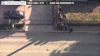 Audio: San Bernardino police dispatches from shootout with mass shooting suspect