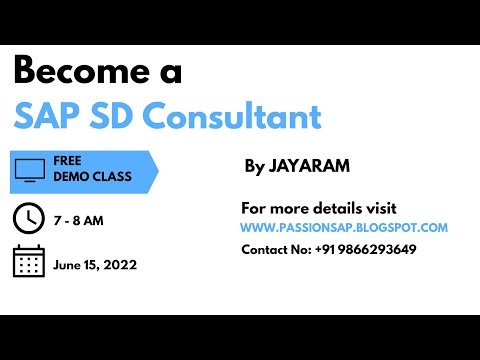 SAP SD TRAINING - TAX DETERMINATION IN SAP SD