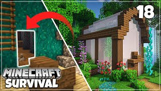 Secret Tunnel & Greenhouse Farms - Minecraft 1.16 Survival Let's Play