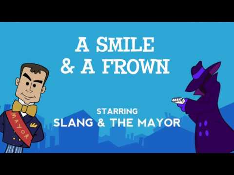 A Smile and a Frown - the Synonyms/Antonyms song from Grammaropolis - Lyrics Video