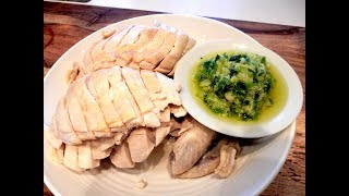 S1Ep35-Poached Boneless Chicken with Ginger Onion Dipping Sauce 薑蔥白斬雞