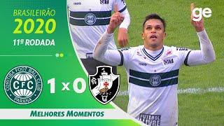 CORITIBA 1 X 0 VASCO | MELHORES MOMENTOS | 11ª RODADA BRASILEIRÃO 2020 | ge.globo