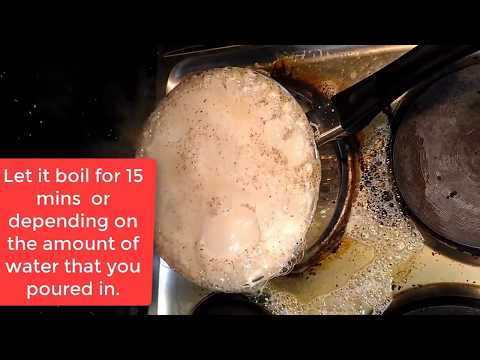 How to easily Clean burnt Pan with Dish washing liquid