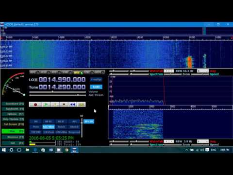 Scanning the 20 meters amateur radio band with the soft66rtl2 SDR