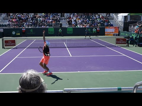 Denis Shapovalov V. Viktor Troicki (Court Level View) 60FPS HD Miami Open 2018 R1