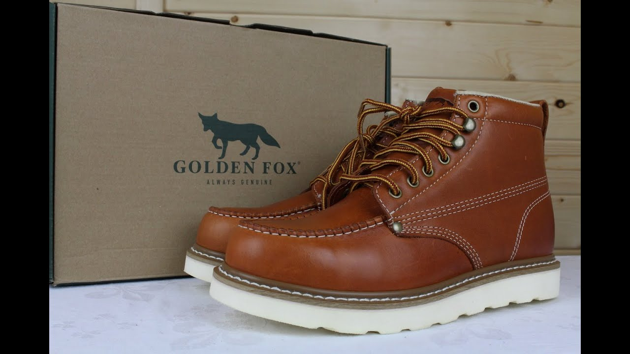 Golden Fox 6 Moc Toe Wedge Pro Work Boot Review Youtube