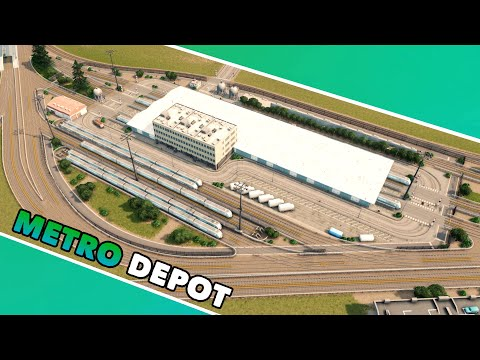 Building a realistic Metro Depot in Cities: Skylines with vanilla assets | Dream Bay Mini Project |