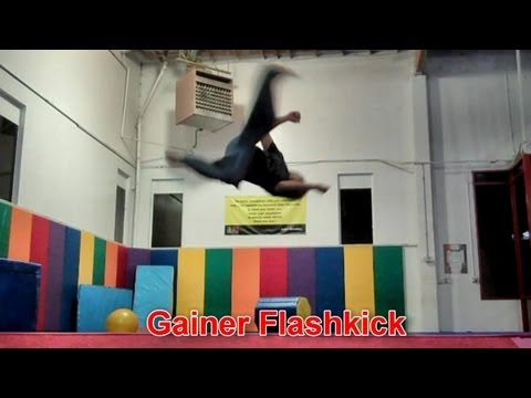 Learn To Trick: How To Gainer Flashkick (Slant, Moonkick)