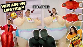 TRYING ON FUNNY HALLOWEEN COSTUMES!!! | Louie's Life