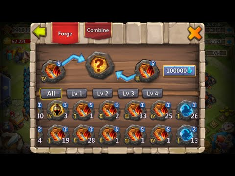 Forging Level 2 Crests Opening 60 Lava 2 Chests Full Bingo Card Castle Clash