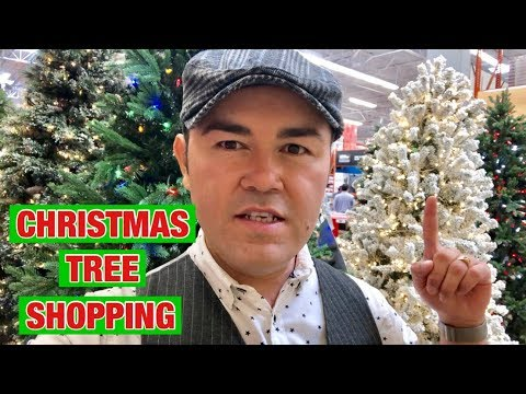 Shop With Me For A Christmas Tree / Budget Christmas Decor  /Walmart Christmas Tree Decorating