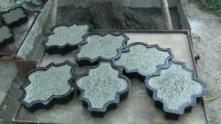 самодельный вибростол плитка тротуарная(изготовил и испытал маленький вибростол для домашнего пользования, результат мне понравился., 2011-08-04T15:48:31.000Z)