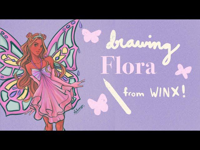 [VIDEO] 🌸drawing flora from winx club! (speedpaint + mini animation)