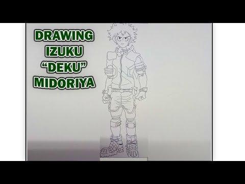"Speed Drawing Izuku ""Deku"" Midoriya II My Hero Academia II Sketch #001"