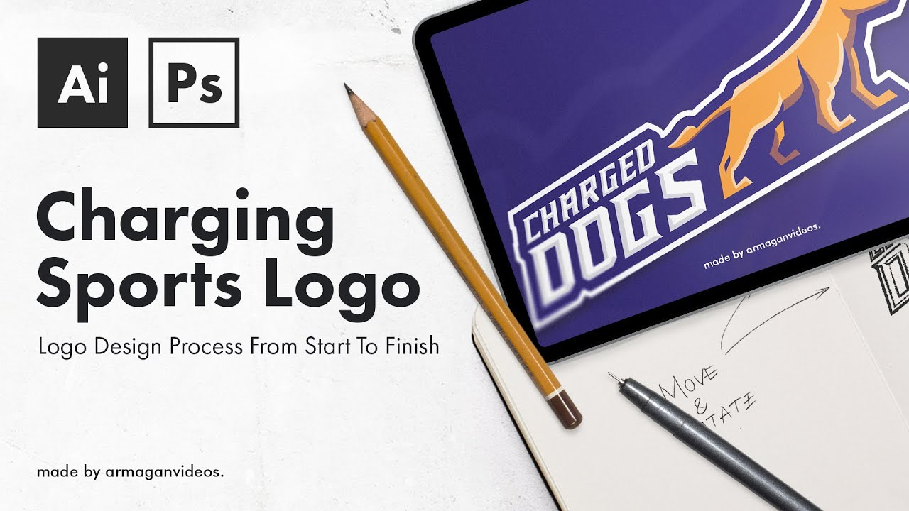 From A Sketch To A 500$ Sports Logo – The Design Process
