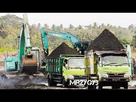 Cool!! ALL Overloaded Dump Trucks By Kobelco SK200-10 Excavator