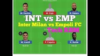 INT vs EMP Dream11 team//Playing11//Match Prediction// Inter Milan vs Empoli FC Dream11 team
