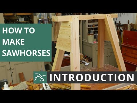 How to Make Sawhorses Introduction   Paul Sellers