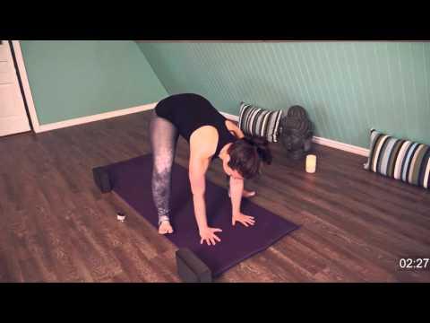 Prenatal Yoga Garland Challenge Pose