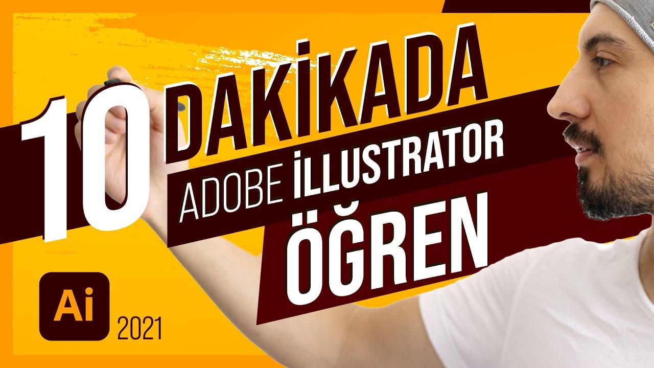 10 Dakikada Adobe Illustrator Nasıl Öğrenilir? / Uygulamalı illustrator Dersleri