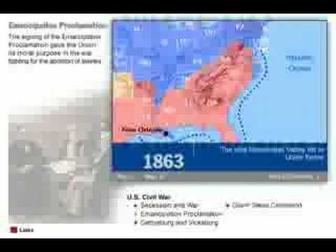 History Of The American Civil War Map YouTube - Map of the us in the civil war