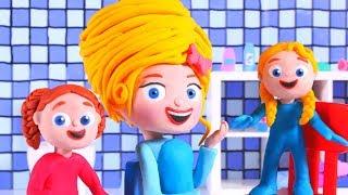 PRINCESS NEW HAIR STYLE & CUT ❤ SUPERHERO PLAY DOH CARTOONS FOR KIDS