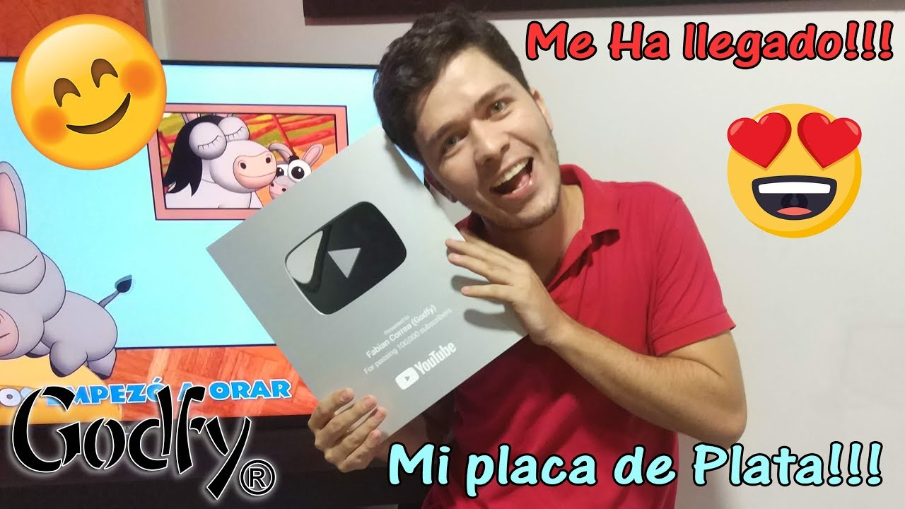 Me ha Llegado mi Premio 😊 La Placa de Plata de Youtube!!! 🤩 Godfy