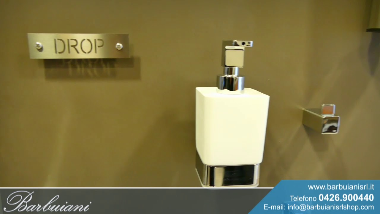 Accessori bagno OML in ottone cromato | serie Zac e serie Drop - YouTube