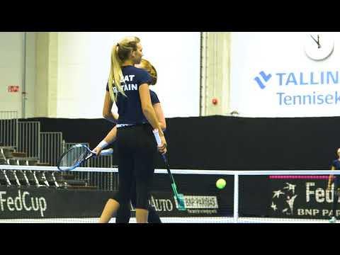 GB Fed Cup Team training in Estonia
