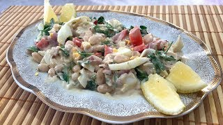 Piyaz - турецкий салат-закуска из фасоли
