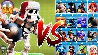Giant Skeleton vs All Troops Clash of Clans Gameplay | Giant Skeleton vs Every Single Troop