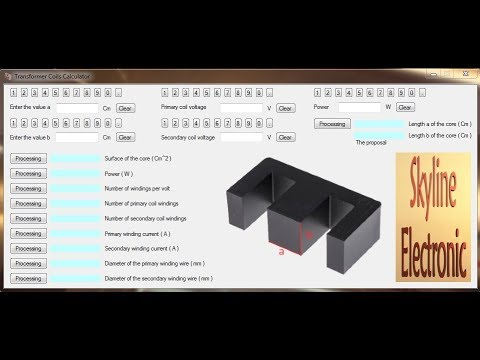 Transformer Winding Calculation Software Download For Free Youtube
