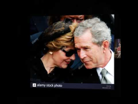 Laura Bush and her husband