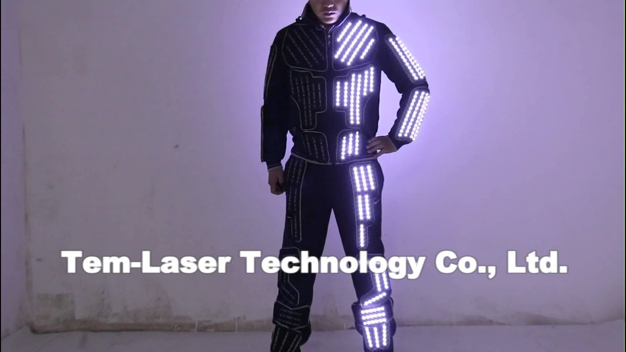 Tron LED Suit Traje LED Robot Suit LED Clothing Luminous Dance Costume LED Single Color & Tron LED Suit Traje LED Robot Suit LED Clothing Luminous Dance ...