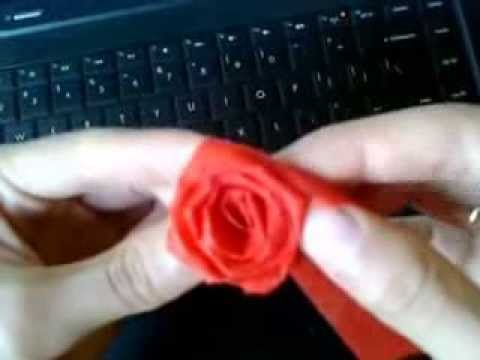 Hướng dẫn làm hoa hồng từ dây ruy băng - Tranh thêu chữ thập Candy