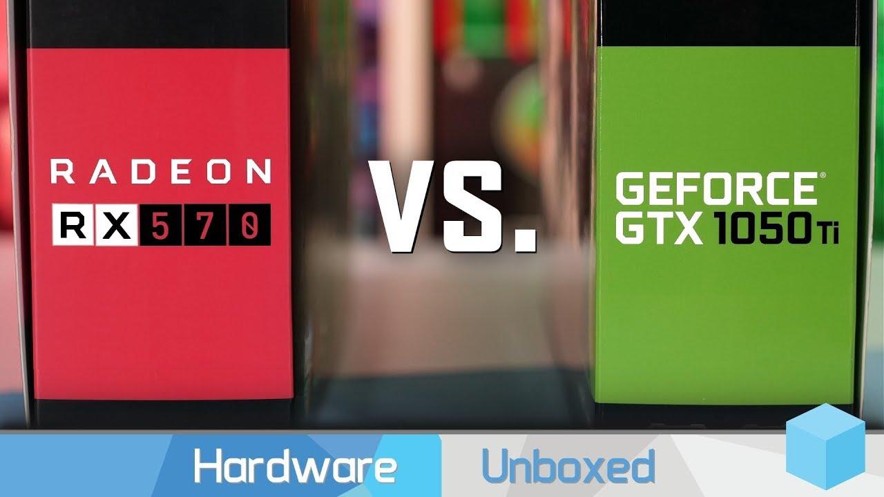 Radeon RX 570 vs  GeForce GTX 1050 Ti, Adrenalin 2019 Edition Driver Update